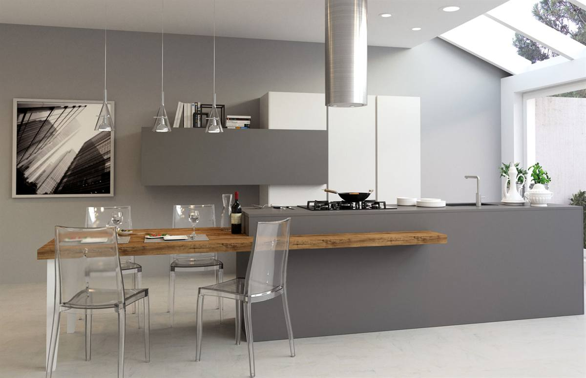 Best cucina moderna con isola centrale pictures - Cucine con isola centrale ...